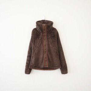 Kuhl Flight Fleece Jacket Convertible Hood Brown